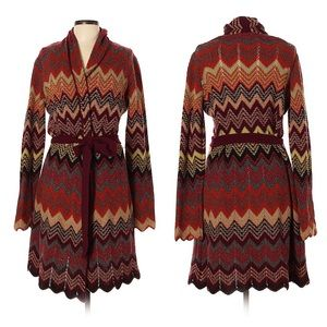 Lucky Brand Wool Chevron Cardigan